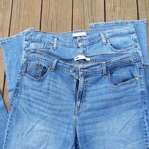 Lot of 2 Levi's Women's 16 Long Jeans